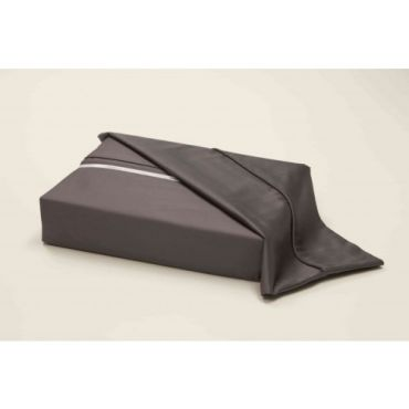 Athena Egyptian Cotton Sateen Fitted Sheet-GREY