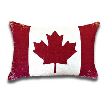 YES CANADA MAPLE LEAF CUSHION