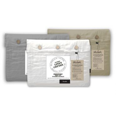 Freeport Linen/cotton Fitted Sheet