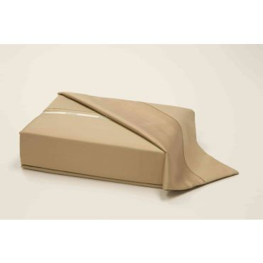 Athena Long Staple Cotton Sateen Fitted Sheet-TAUPE
