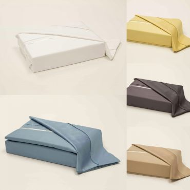 Brenda Long Staple Cotton DuvetCover Set (yellow, taupe and blue)