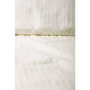 Crib Size Organic Cotton Fitted Sheet(Natural Damask)-MADE IN CANADA