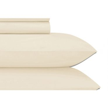 Jubilee Cotton Sateen 4-PC Sheet Set-IVORY