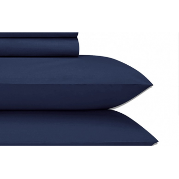 Jubilee Cotton Sateen 4-PC Sheet Set-NAVY BLUE