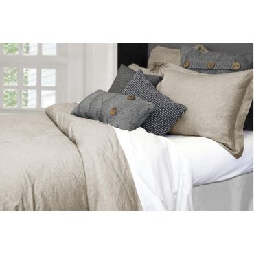 100% Linen-Morgan Duvet Cover Set-Natural Color