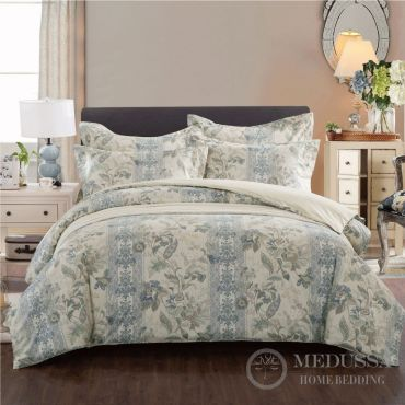 This luxury 100% Cotton Sateen bedding set, designed and Woven in Japan, is made of extra-long staple fiber combed cotton, the highest standard of cotton in the world.