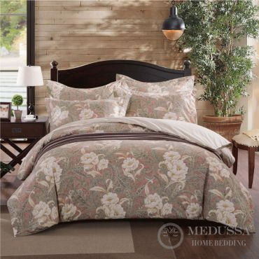 This luxury 100% Cotton Sateen bedding set, designed and Woven in Japan, is made of long staple and extra-long staple fiber combed cotton, the highest standard of cotton in the world.