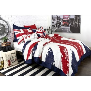 Union Jack Quilt /Coverlet Set