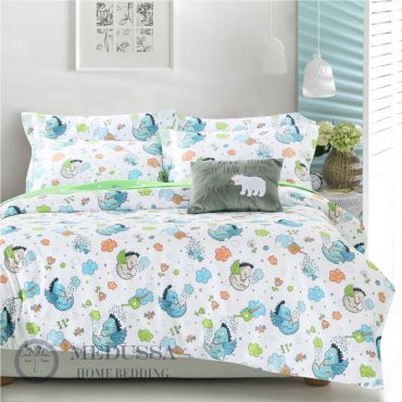 It is made of 100% Combed Cotton Sateen, which is one of the most popular supreme fabrics for high-end bedding. It has a silky fine, soft and smooth touch, with a luster finish, so that it provides extra comfort for kids' skin.