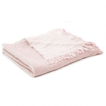 BLOOM PINK COTTON THROW