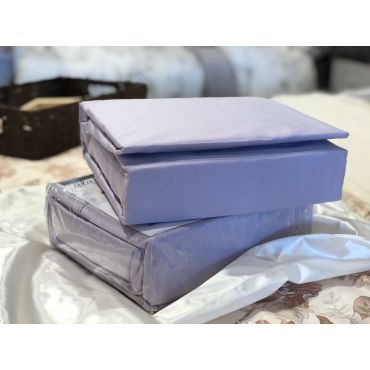 Jubilee 纯棉贡缎床单床笠四件套-淡紫色