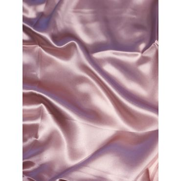 美杜莎全真丝素色樱花粉枕套