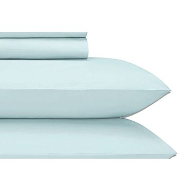 Jubilee 纯棉贡缎床单床笠四件套-淡水蓝