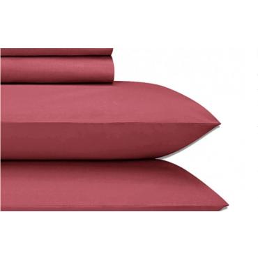 Jubilee Cotton Sateen 4-PC Sheet Set-LYCHEE RED