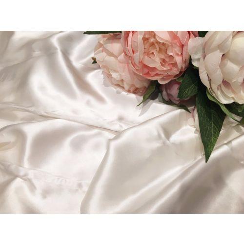 美杜莎全真丝素色米白枕套